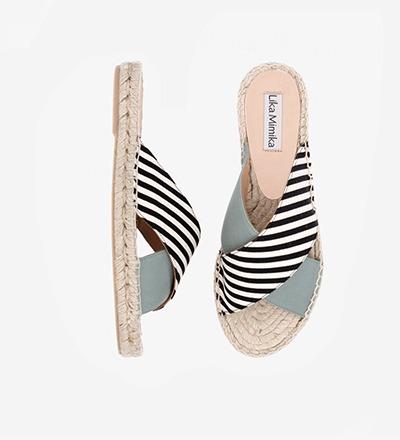 SKINNY STRIPED SALVIA - Cross Sandal / VK EUR 129 -