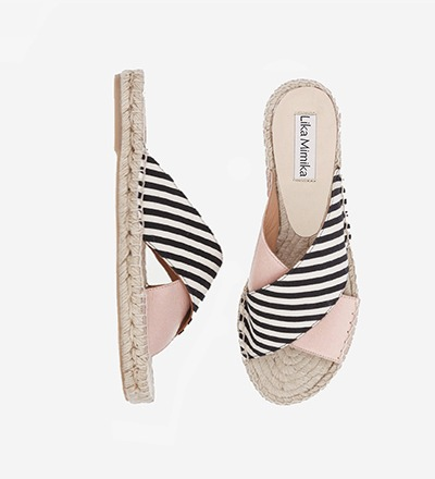 SKINNY STRIPED CIPRIA - Cross Sandal / VK EUR 129 -