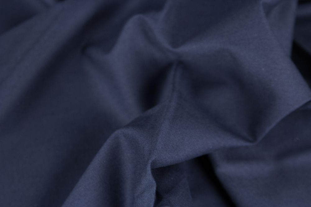 Baumwolle Fahnentuch dunkelblau blau Uni marine - 1