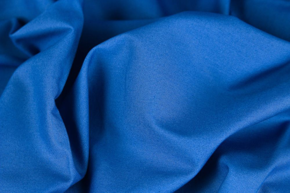Baumwolle Fahnentuch royalblau blau Uni - 1