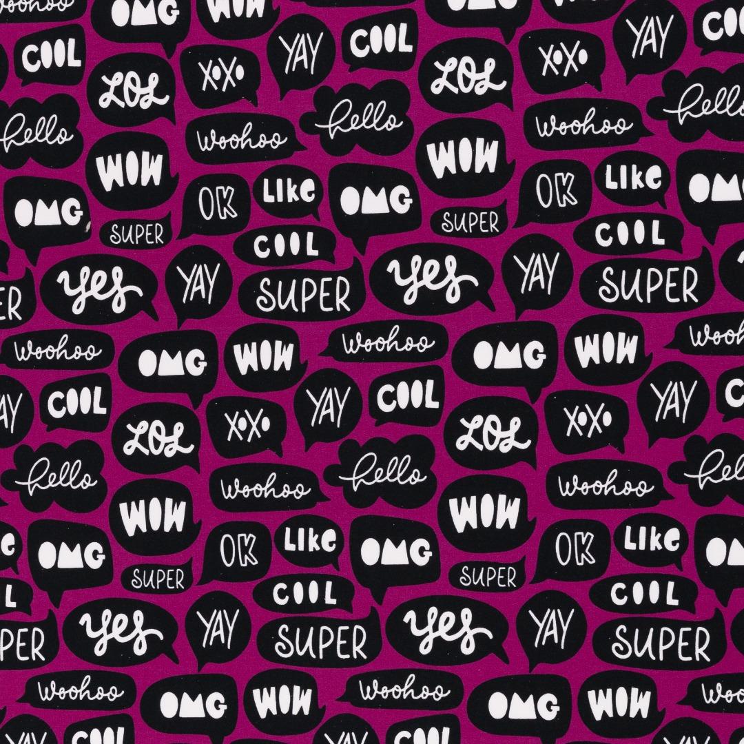 Sweat Sprechblase Chatverlauf pink/ erika schwarz