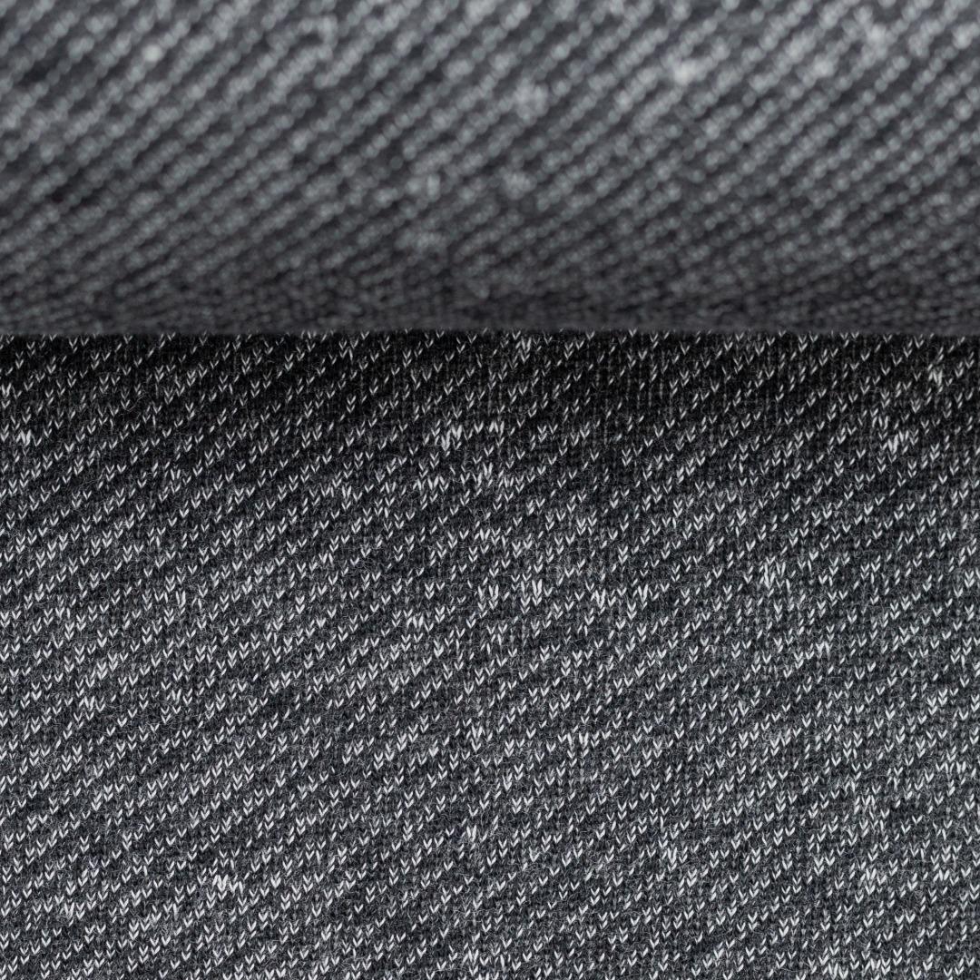 Sweat blau meliert angeraut schwarz Piet
