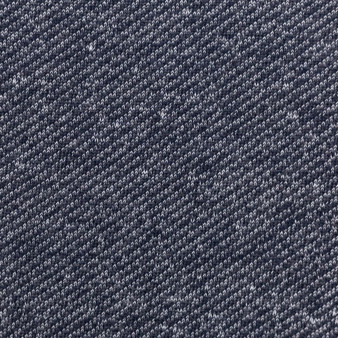 Sweat blau meliert angeraut jeansblau Piet
