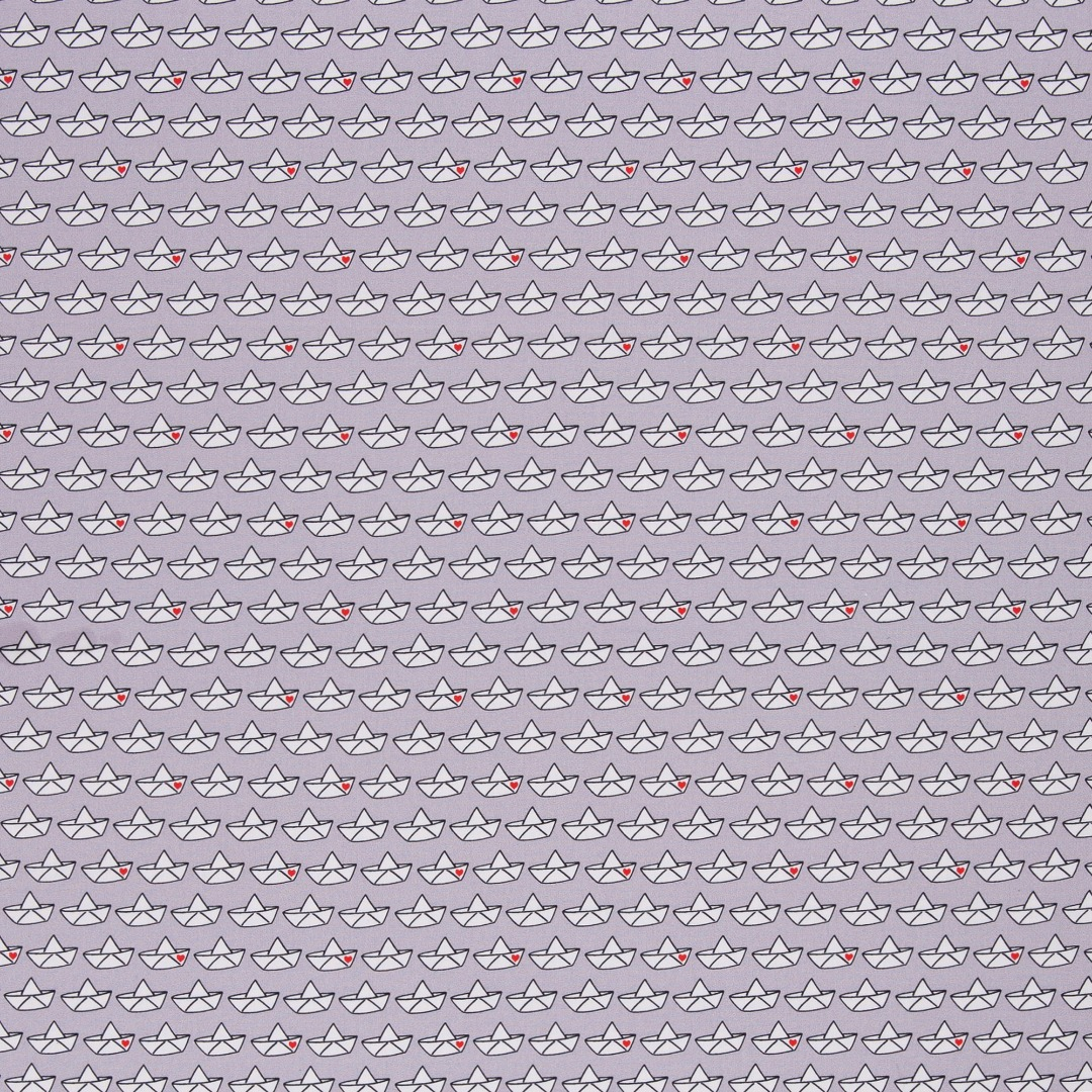 Baumwollstoff Loveboat by Cherry Picking grau
