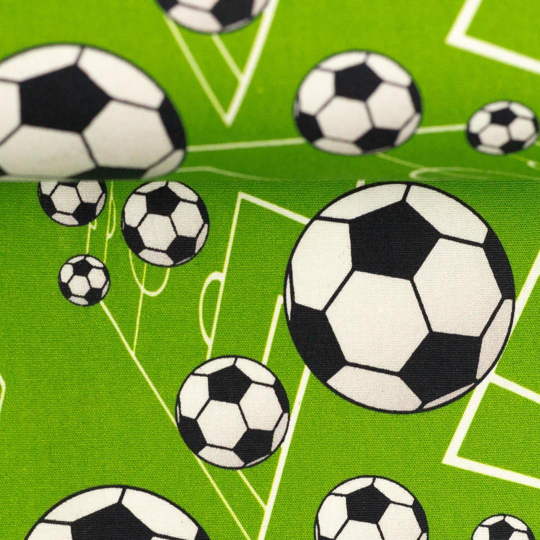 Baumwolle Fußball grün Kim Swafing Meterware