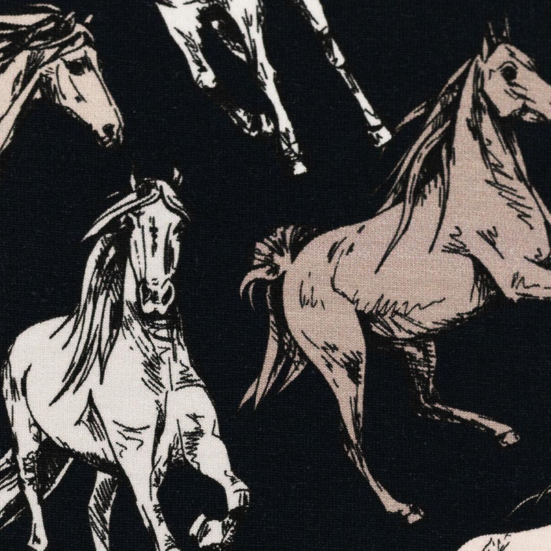 Jersey Pferde blau Theo Swafing