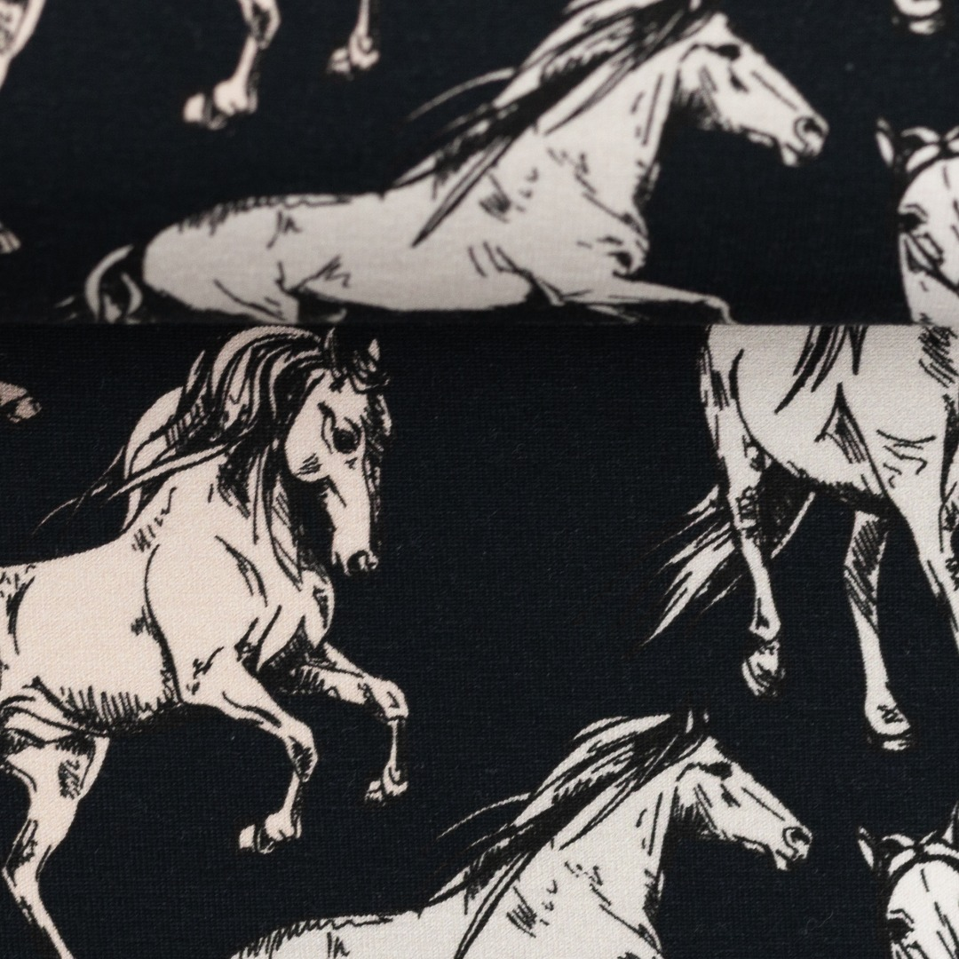 Jersey Pferde blau Theo Swafing 3