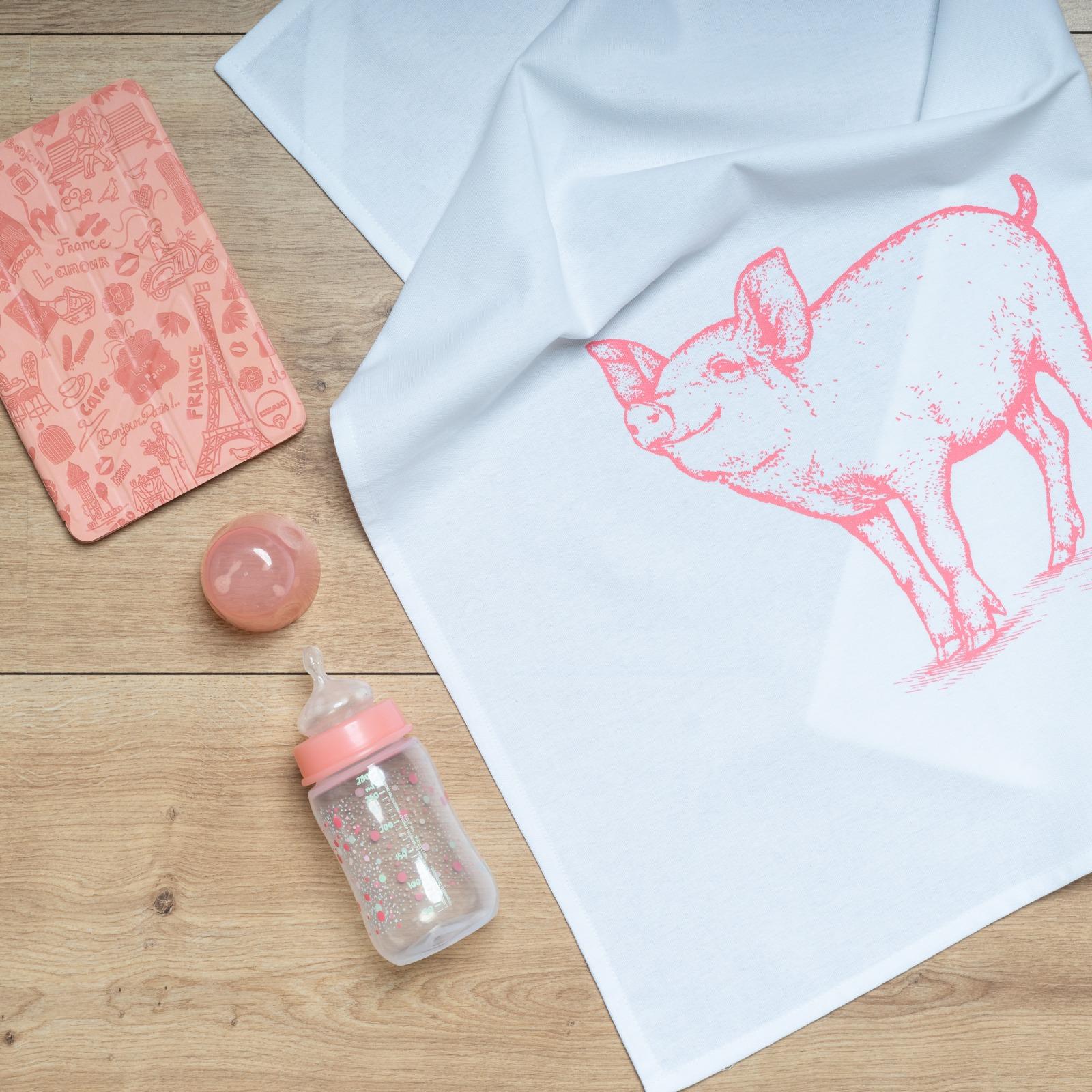 Geschirrtuch Schwein Schweinschen rosa