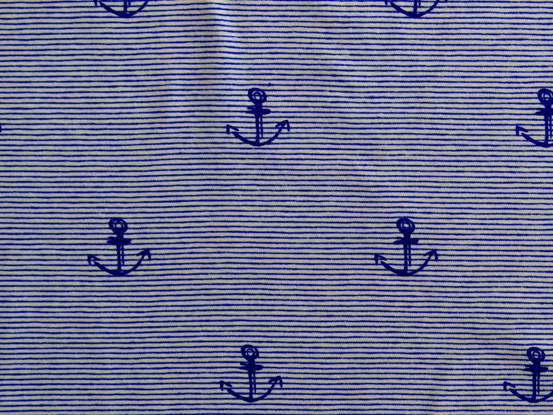 Streifenjersey jenasblau weiß Ringeljersey Anker