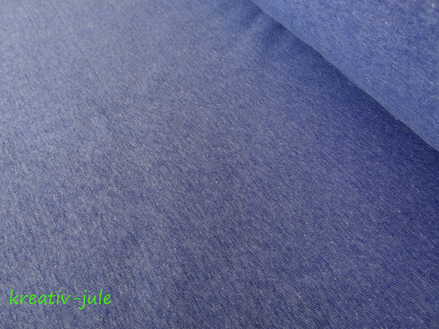 Sweat blau meliert melange jeansblau - 1