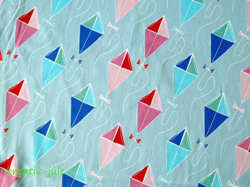 Jersey Drachenflug von Blaubeerstern hellblau pink - 2