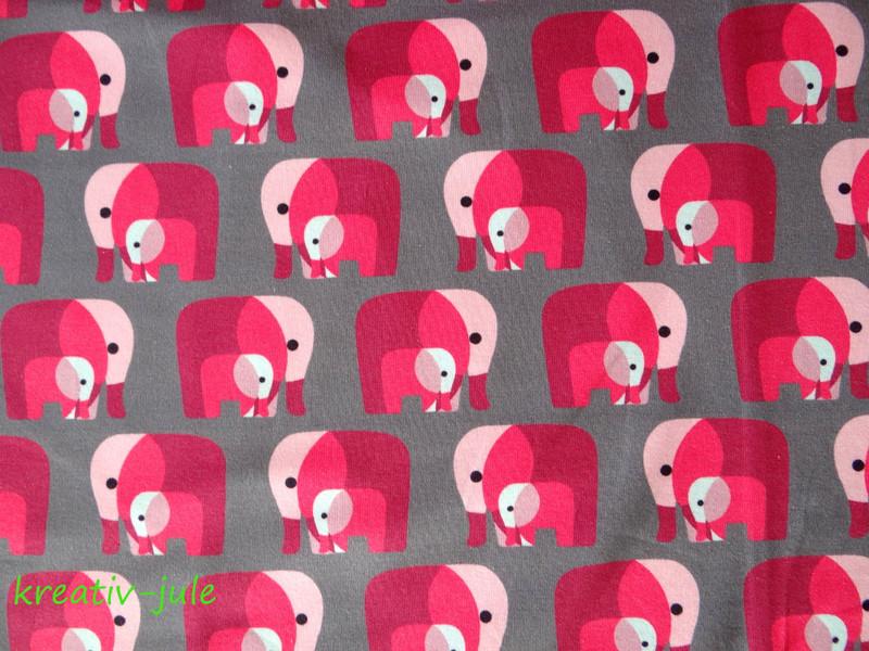 Jersey Elefant Elefanten grau pink Klimperklein - 2
