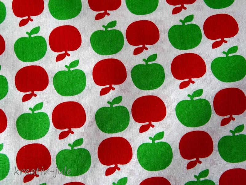 Baumwolle Apfel gruen rot Aepfel
