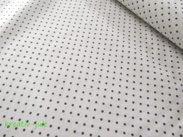 Baumwolle Punkte weiss grau