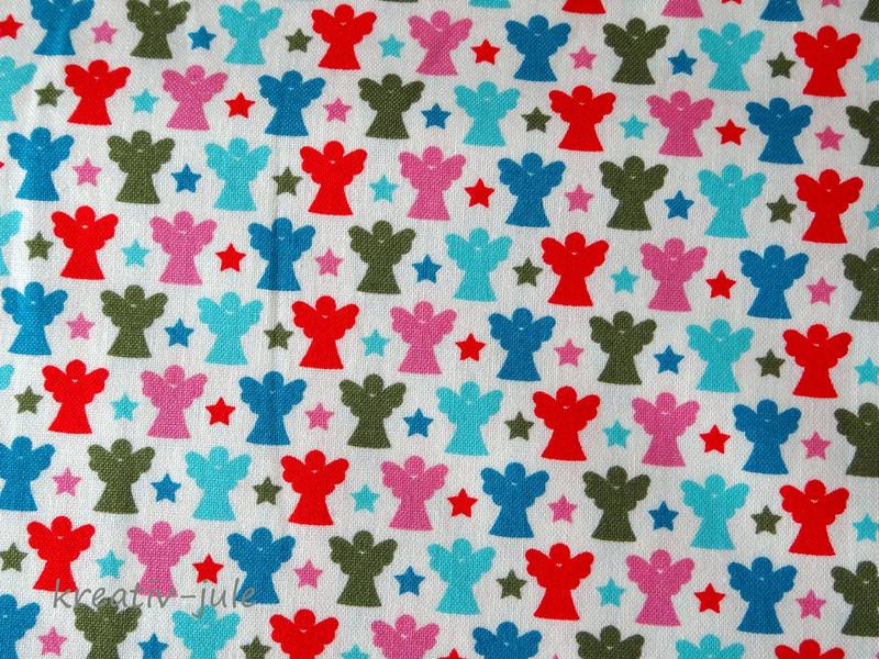 Baumwolle Engel Joyful Schutzengel pink blau - 2