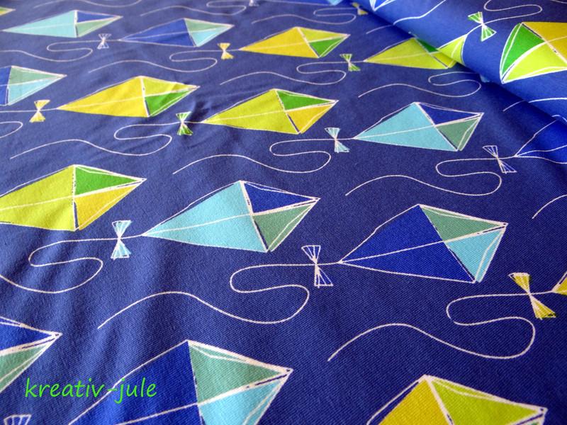 Jersey Drachenflug von Blaubeerstern blau grün - 1