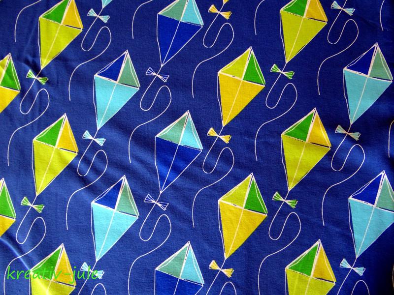 Jersey Drachenflug von Blaubeerstern blau grün - 2