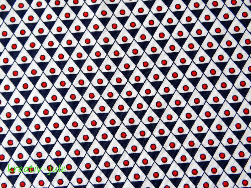 Jersey Dreieck Punkte blau rot maritim - 2