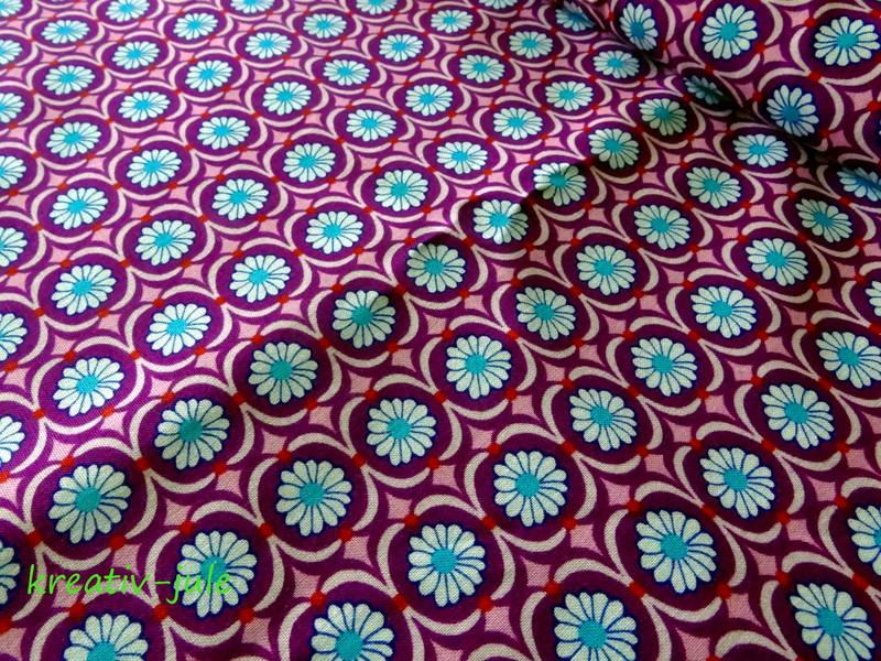 Baumwolle Blumen Betty Butter by Jolijou lila - 1