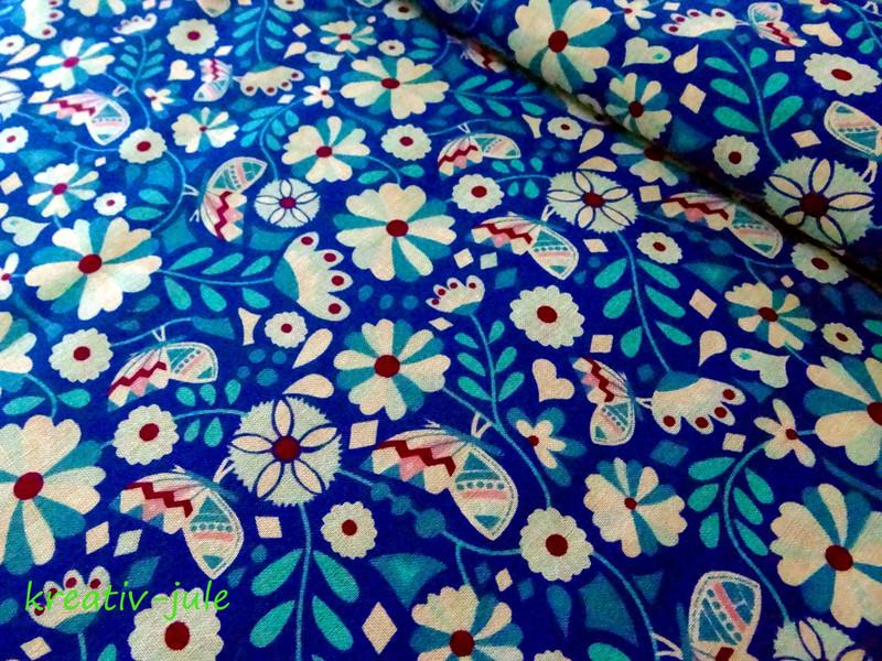 Baumwolle Blumen Butter Bloom by Jolijou - 1