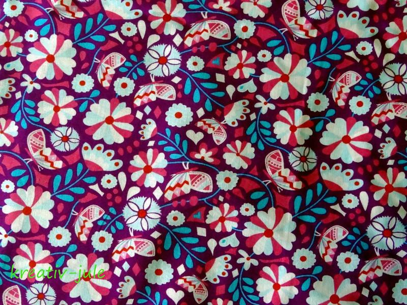 Baumwolle Blumen Butter Bloom by Jolijou lila - 2