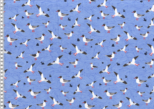 Jersey Seagull Wave by Lila Lotta Möven hellblau - 1