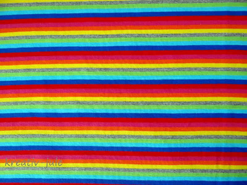 Streifenjersey bunt Ringeljersey Regenbogen blau 2