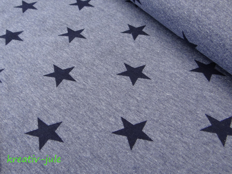 Sweat Sweatshirt Sterne blau marine meliert