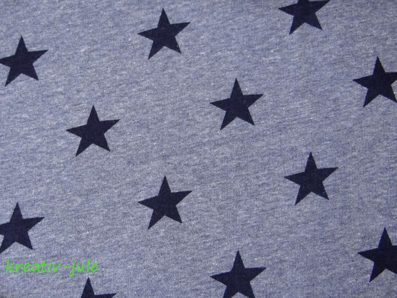 Sweat Sweatshirt Sterne blau marine meliert - 2