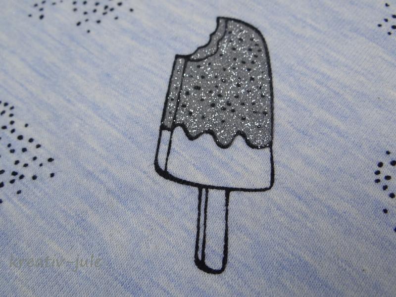 Jersey hellblau meliert Eis glitzer ice cream