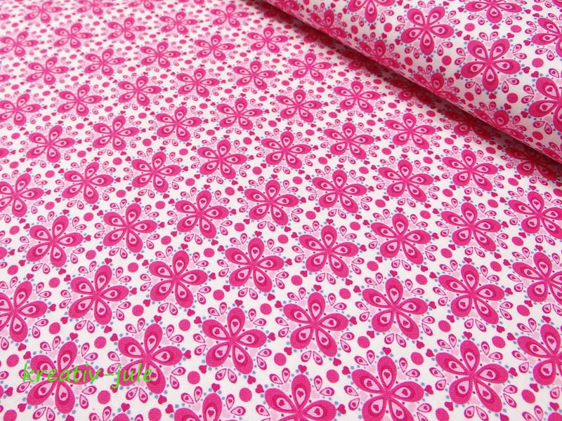 Baumwolle Julia Blume pink - 1