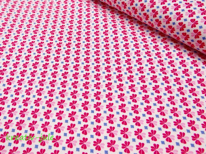 Baumwolle Julia Kleeblatt Klee pink - 1