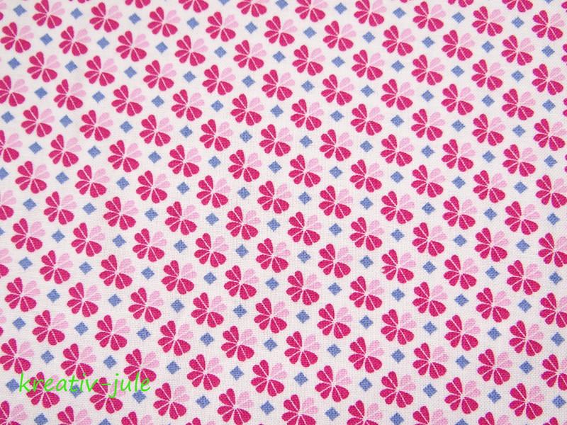 Baumwolle Julia Kleeblatt Klee pink 2