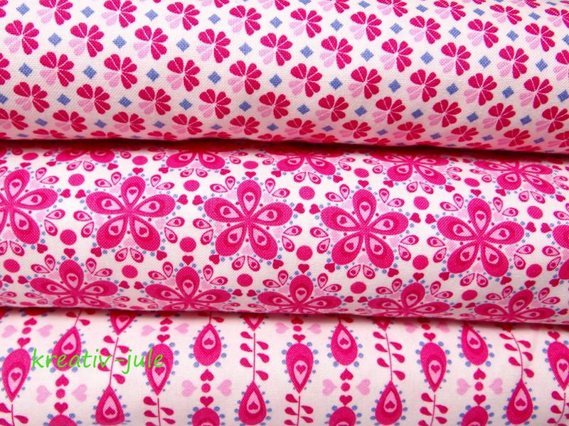 Baumwolle Julia Tropfen pink - 3