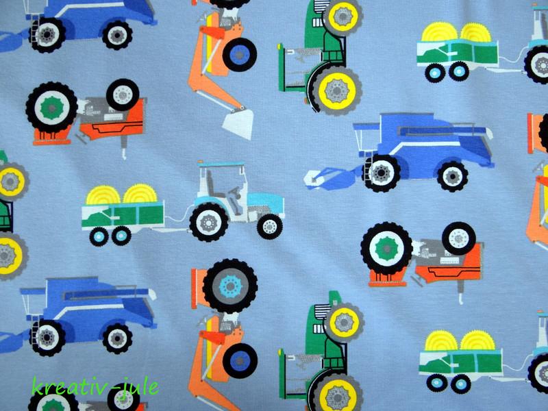 Jersey Trecker Traktor blaugrau Maehdrescher