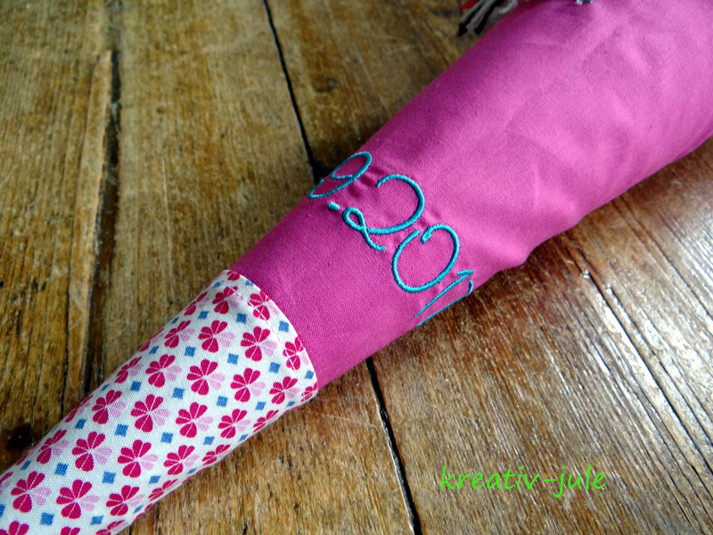 Schultüte Pferd pink rosa blau 4