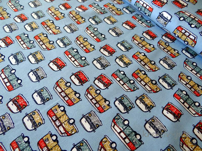 Baumwolle Bus Transporter blau - 1