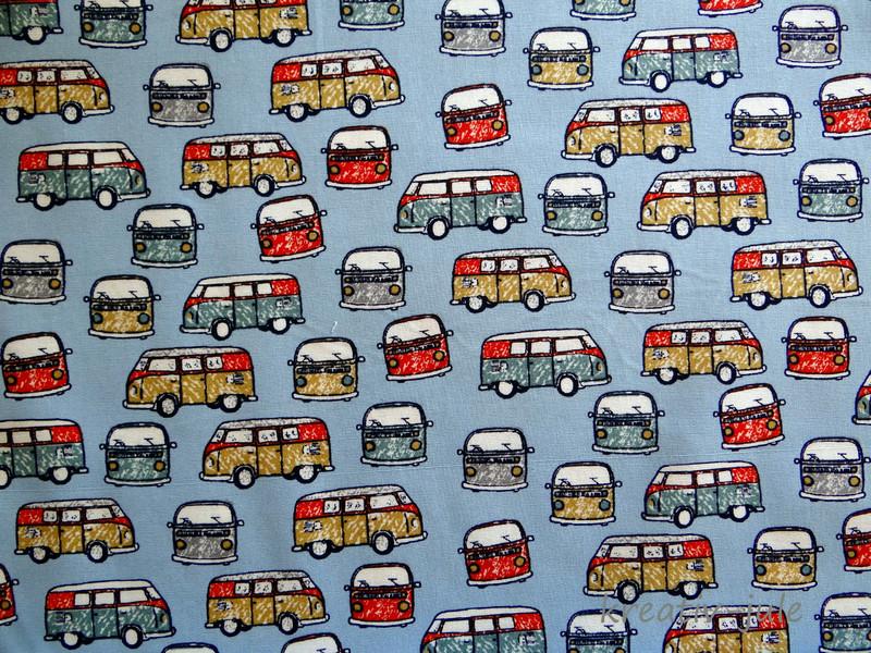 Baumwolle Bus Transporter blau - 2