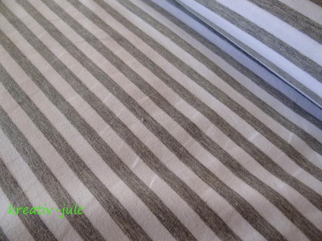 French Terry Sommerswet Streifen weiß graublau