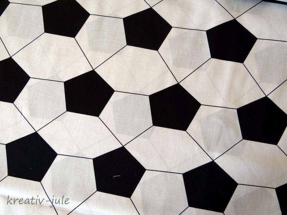 Baumwolle Fußball schwarz weiß 2