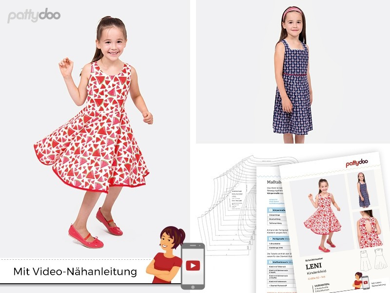 Schnittmuster Leni Kinderkleid by pattydoo