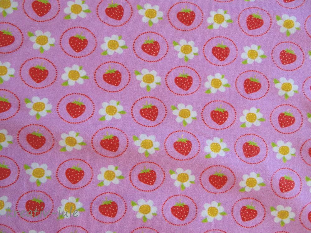 Jersey Erdbeere Strawbeery Blume rosa