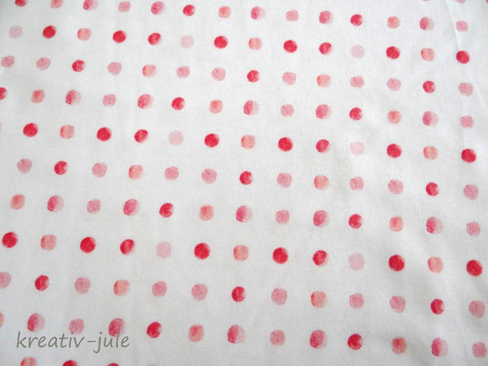 Jersey Punkte Tupfen weiß Aquarell lachs koralle - 2