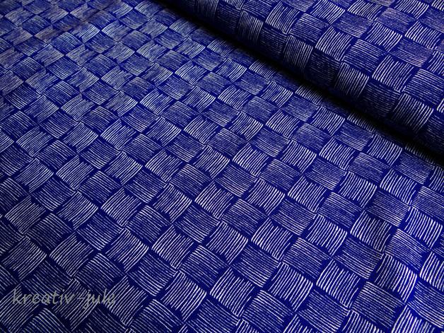 Sommersweat Rick French Terry blau dunkelblau - 1