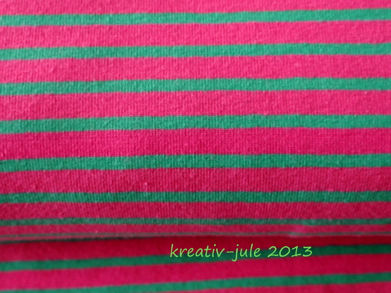 Streifenjersey Kinderstoff rosa grün 2