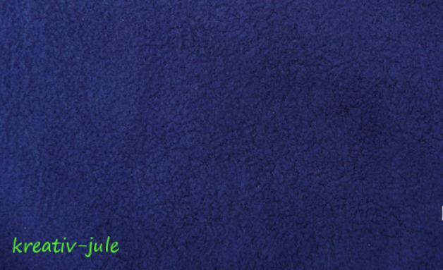 Baumwollfleece Fleece dunkelblau blau - 1