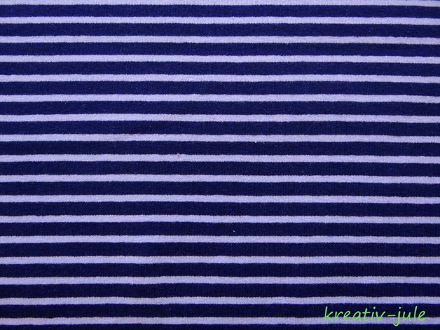 Streifenjersey dunkelblau/hellblau Ringeljersey - 1