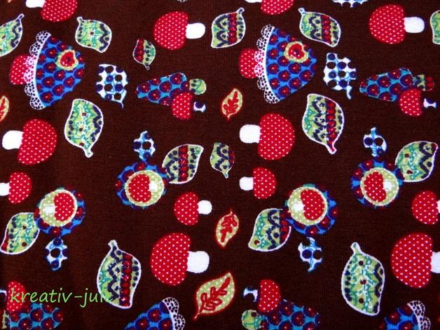 Jersey Pilze braunl rot blau