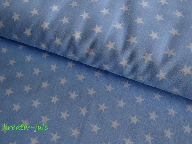 Sterne weiß hellblau - 1
