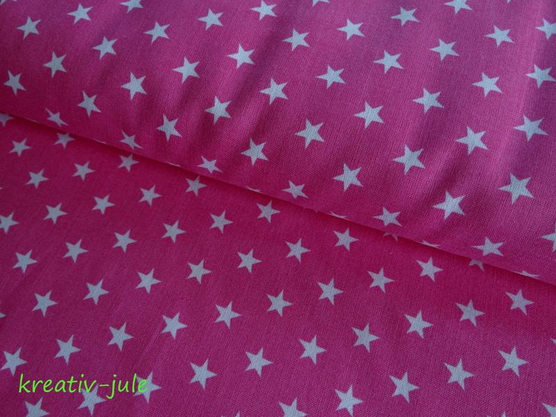 Baumwolle Sterne pink weiß